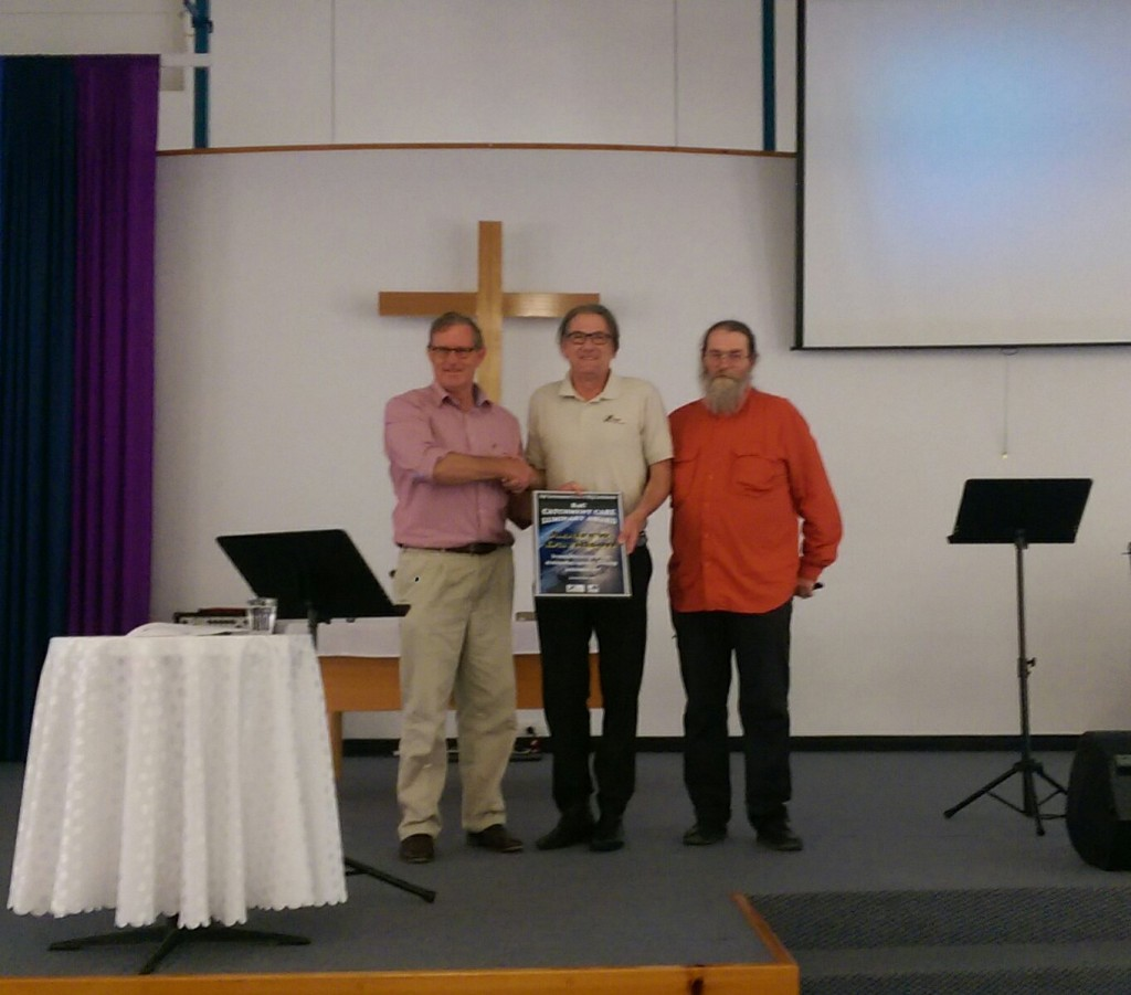 Andrew Davidson receiving award
