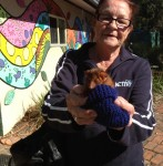 Maureen With Mandy the baby ringtail possum
