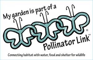 Pollinator Link fence sign