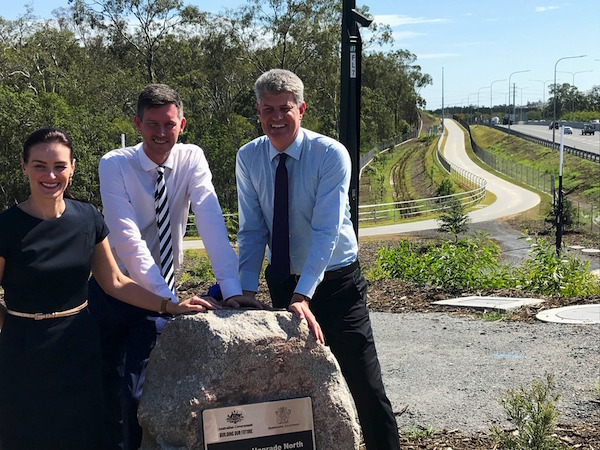 Leanne Linard (Member for Nudgee), Mark Bailey (Minister for Transport & Main Roads) & Stirling Hinchliffe (Minister for Local Government)