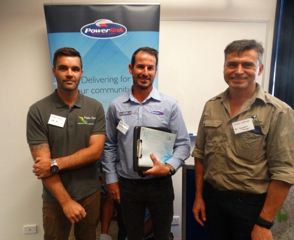 Steve Collom (Habi-Tec), Dylan Wells (Powerlink) & Stefan Hattingh (B4C).