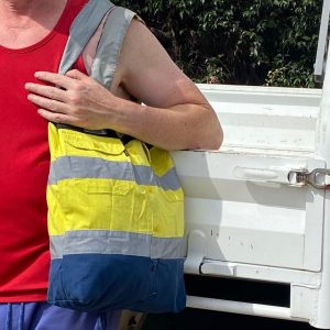 tradie bags with high-viz strips