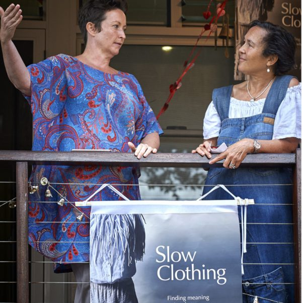 Rebecca Levingstong and Jane Milburn at Slow Clothing book launch in Brisbane