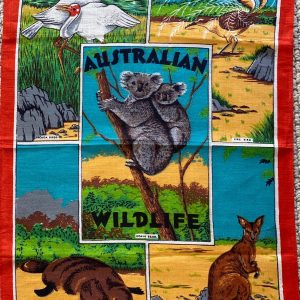 Vintage tea towel - Australian wildlife - buy online