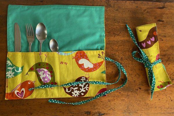 bird cutlery wraps