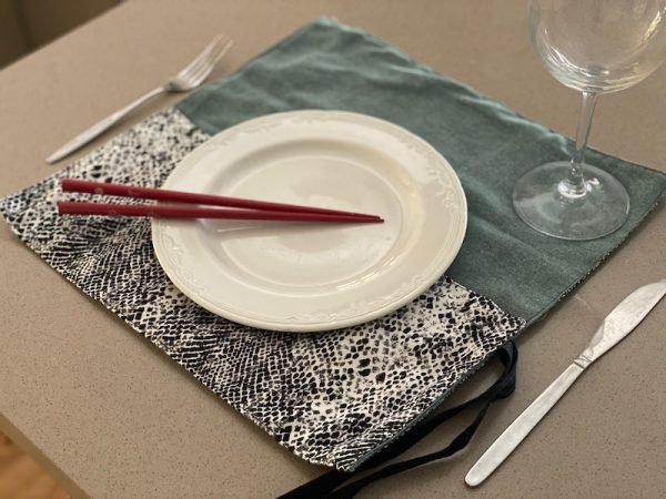 cutlery wraps - use as placemat