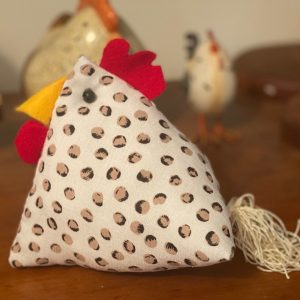 Fabric chicken - pin cushion or decorative