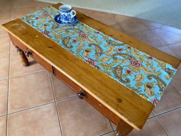 Coffee table runner - Upcycled from Spell designs fabric | Brisbane
