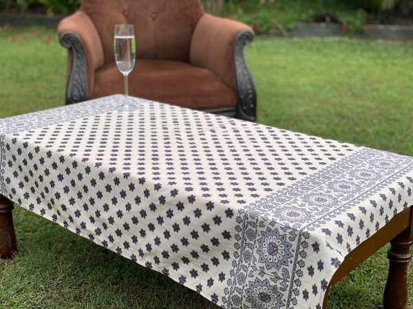Coffee table cloth - upcycled from Spell Designs fabric
