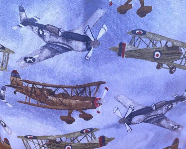 Military aircraft print on bag