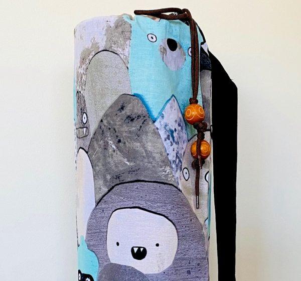 yoga mat bag - cute monsters - Brisbane